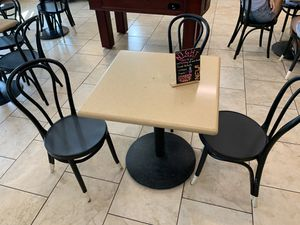 Limestone tables with chairs for Sale in Riverside, CA