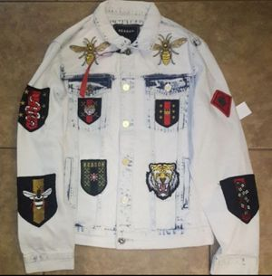 New Exclusive Tiger Denim Jacket MEDIUM for Sale in Corpus Christi, TX