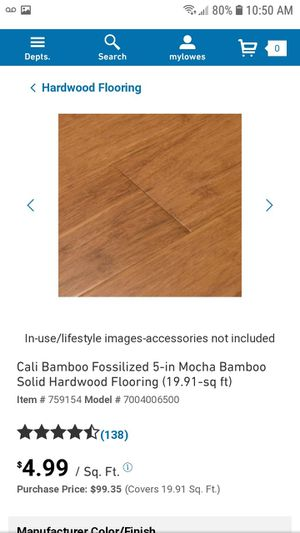 brand new boxes of Cali bamboo wide click hardwood flooring for Sale in Portland, CT