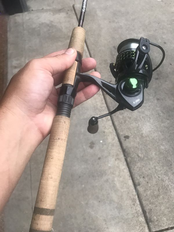 G loomis trout fishing pole and reel