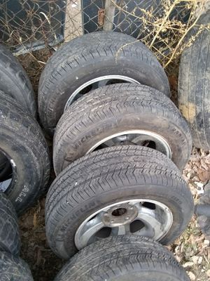 96 to 02 S10 alloy rims and like brand new tires for Sale in St. Louis, MO