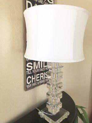 Glass lamp W/ white shade for Sale in Phoenix, AZ