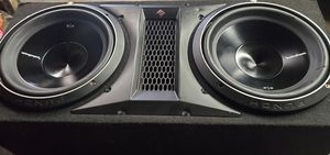 Car audiophiles subs and amp and box for Sale in Eastlake, OH