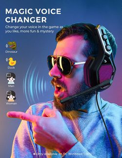 Mpow Gaming Headse for PS4, PC, Xbox One, 7.1 Surround Sound Wired 3.5mm & USB Headphones with Noise Cancelling Mic, RGB Changing LED, Voice Changer for Sale in Ontario,  CA