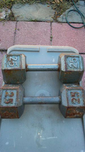 (2) 25lb dumbbell for Sale in Kissimmee, FL