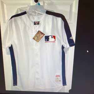 Stitches major league baseball white baseball jersey extra large new for Sale in Chandler, AZ