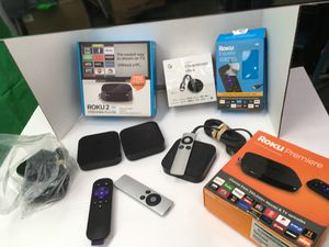 Streaming diveces. Roku Apple TV 4 k chrome cast ultra. $65 star price and up not down for Sale in Moreno Valley, CA