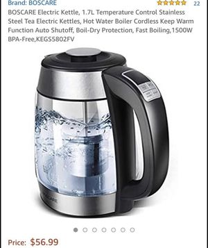 BOElectric Kettle, 1.7L Temperature Control Stainless Steel Tea Electric Kettles for Sale in Lilburn, GA