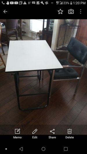 Adjustable desk with chair in good condition for Sale in Bakersfield, CA