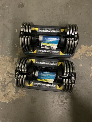 Pro-Form Fusion Space Saver Adjustable Dummbells - 25 lbs. Each for Sale in Rockville, MD