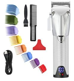 Professional Cordless Hair Clippers for Men All Metal Housing , Silver for Sale in Arlington,  TX