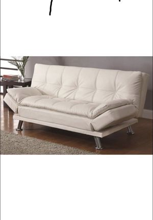 Futon/ Sofa Bed featuring adjustable side arms and pillow top seating. for Sale in Hialeah, FL