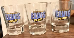 Set of 3 collectible Elvis Presley shot glasses. for Sale in Redmond, WA