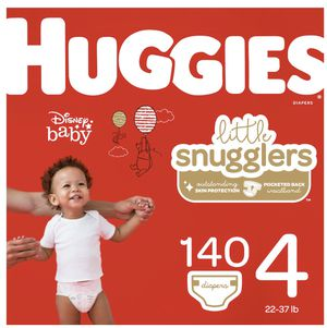 Huggies little snugglers size 4 huge box 140 diapers for Sale in Streamwood, IL