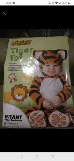 Tiger costume 0-6 months brand new in package for Sale in Lockhart, FL