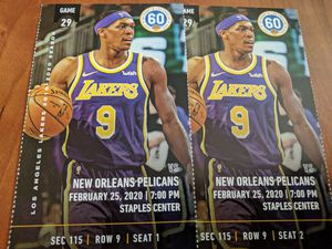 2 tickets Lakers vs. Pelicans Section 115, Row 9 for Sale in Los Angeles, CA