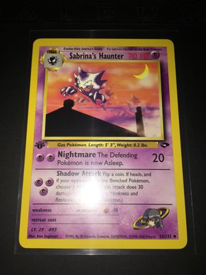 Pokemon Trading Cards: 1st Edition Sabrina's Haunter Mint ✨ for Sale in Rialto, CA