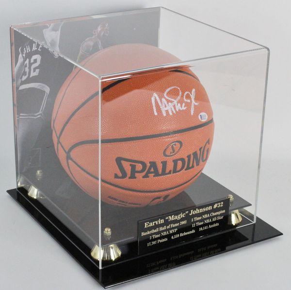 Signed Magic Johnson basketball!