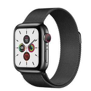 APPLE WATCH SERIES 5 GPS/LTE STAINLESS STEEL BLACK 44mm. WITH STAINLESS STEEL BLACK BAND. NEW!! for Sale in Everett, WA