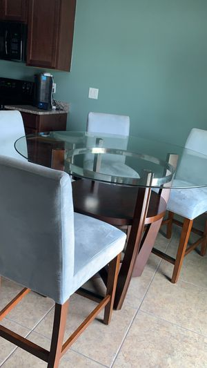 5 piece glass dining set for Sale in Haines City, FL