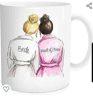 Bride Coffee Mug Bridal Shower Wedding Gift, Maid Of Honor Bestie, Best Friend Sister, White Ceramic 11 OZ for Sale in Las Vegas, NV