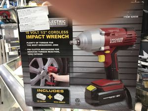 "Chicago Electric 1/2"" 18v Cordless Impact Wrench with charger and battery for Sale in Orlando, FL"