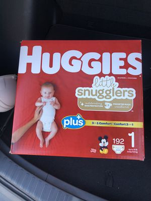 Huggies Little Snugglers 192ct Size 1 (new) for Sale in Las Vegas, NV