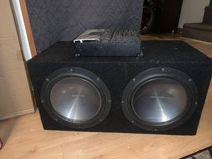 Alpine v12 amp two 10in subwoofer box for Sale in North Smithfield, RI
