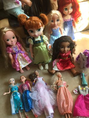 Disney princess Barbie our generation doll doll lot for Sale in Fullerton, CA