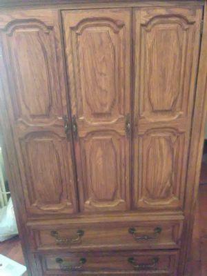 Big old wooden dresser for Sale in Hannibal, MO