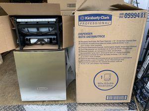 Brand new Kimberly Clark dispenser kit stainless 150 half off retail for Sale in Plant City, FL