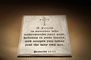 New Wall Tile- A friends is someone who understands your past for Sale in Fort Bliss, TX