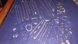 50 + pieces of vintage and new silver jewlery for Sale in Hatboro, PA