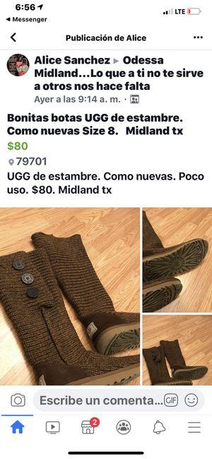Botas de estambre size 8 for Sale in Midland, TX