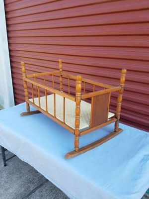 Vintage Doll Bed ( Solid Wood ) for Sale in Magnolia, TX
