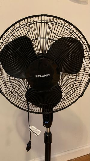 PELONIS 16'' 3-Speed Oscillating Pedestal Fan with 7-Hour Timer, Remote Control and Adjustable in Height, FS40-16JRB,Black for Sale in Queens, NY