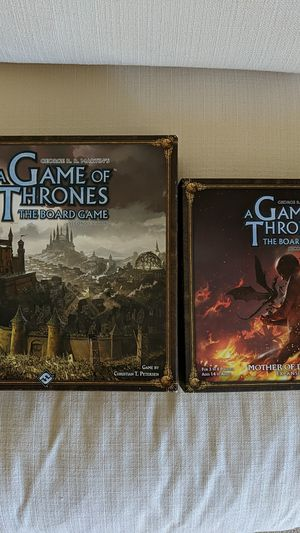 Game of Thrones the board game + Mother of Dragons expansion for Sale in Rocklin, CA