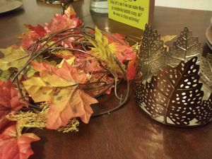 Leaves candle holder for Sale in Elgin, IL