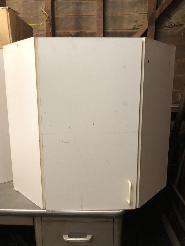 Corner cabinets. Great for garage
