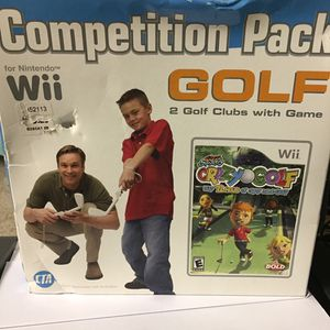 Nintendo Pack Golf Game & accessories For Wii & Wii u for Sale in Champaign, IL