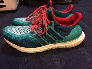 ddcb47a0b47d adidas Ultra Boost 2.0 AQ4005 Mineral Green Shock Red Rare Men s Size 9 for  Sale in