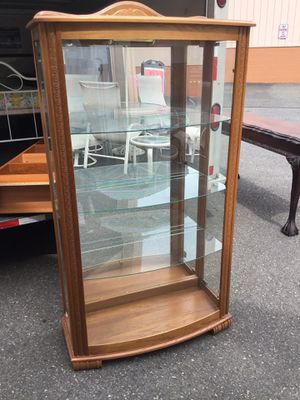 Bowed Front Curio Cabinet - Delivery Available for Sale in Joint Base Lewis-McChord, WA