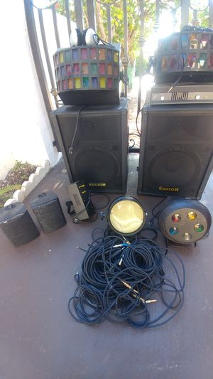Dj equipment lights amp speakers cables and more.. for Sale in Miami, FL