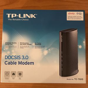 TP Link Cable Modem (TC-7610) for Sale in Rancho Santa Margarita, CA