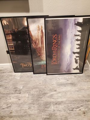 Lord of the rings movie posters for Sale in Glendale, AZ