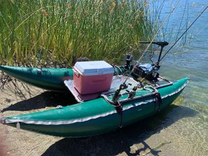 Inflatable pontoon boat for Sale in San Leandro, CA