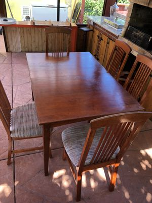 Nice cherry kitchen table and 5 chairs for Sale in Castro Valley, CA
