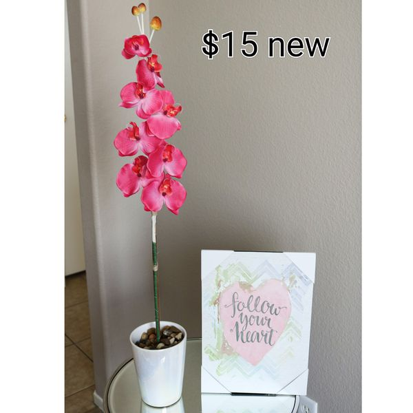 Artificial orchid and frame