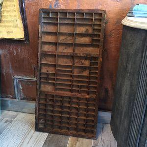 Vintage Industrial Letterpress Drawer Great for Display for Sale in Stuart, FL