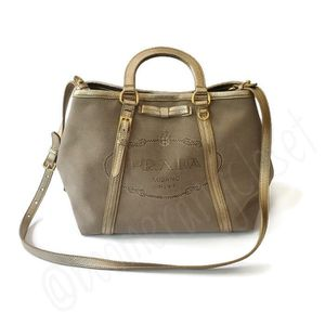 PradaLogo Jacquard2-Way Handheld Shoulder Bag for Sale in Yorba Linda, CA